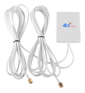 Antena Rede 3g\4g 28dbi 2 Cabos 2,9m Conector Sma