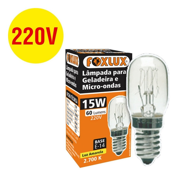 1 Peça = Lâmpada 15w E14 227v Para Geladeira Electrolux Df38