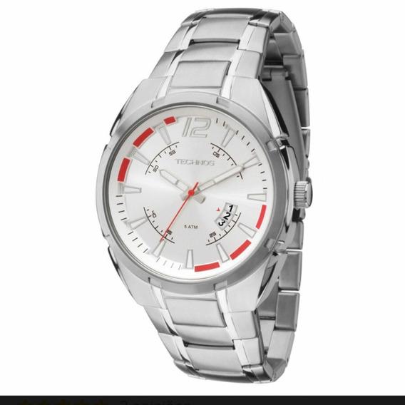 Relógio Technos Masculino Prateado 2115ktd/1k