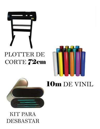 Plotter De 72cm + 10m De Vinil + Kit De Desbastar
