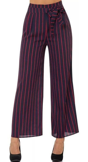 Pantalon De Vestir T & Mar Mujer Azul Poliester Jr8161