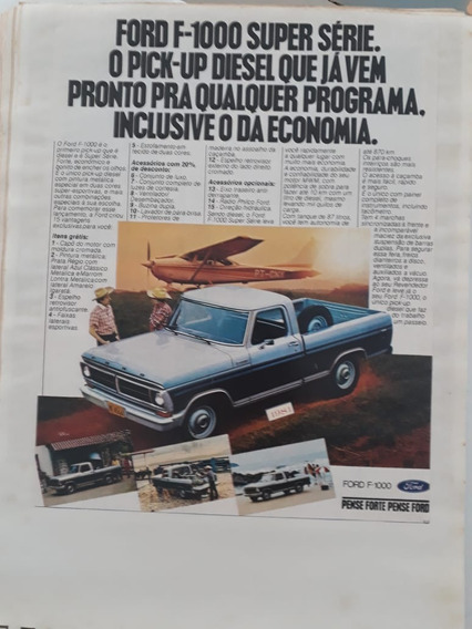 Propaganda Publicidade Anúncio Ford F-1000 1981 Coleção