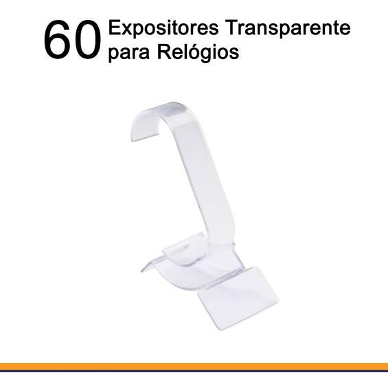 60 Expositores Acrílicos De Vitrine Para Relógio Transparente Item