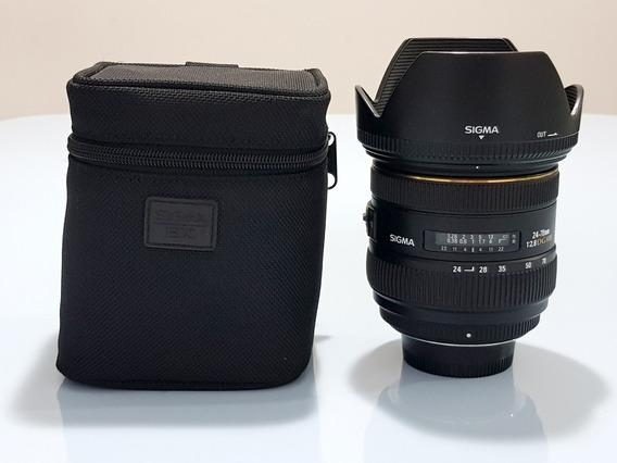 Lente Sigma 24-70mm F/2.8 Dg Hsm Para Nikon