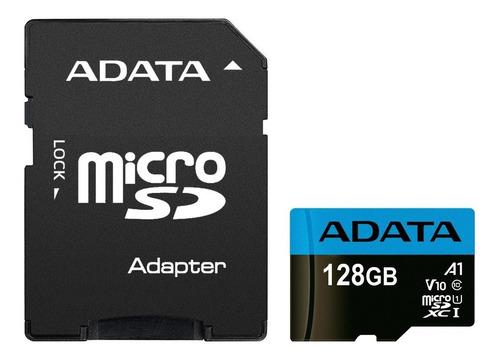 Tarjeta Micro Sdxc 128gb Adata Premier C10, A1, V10, 100mb/s