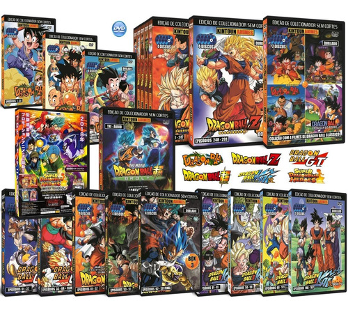 Dvd Dragon Ball Todas As Sagas E Filmes Completos E Dublados