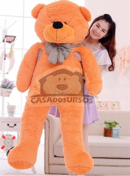 Urso Gigante Caramelo De Pelucia Grande Com 1,8 Metros 180cm