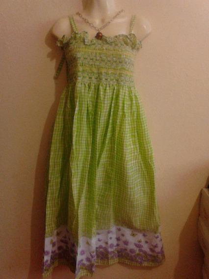 Limpia De Closet Vestido Verde Etnico