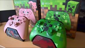 Kit 2 Controles Xbox One Minecraft Edição Especial Microsoft
