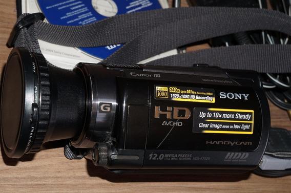 Filmadora Sony Hdr-xr520 Full Hd Completa Super Nova + Acessórios