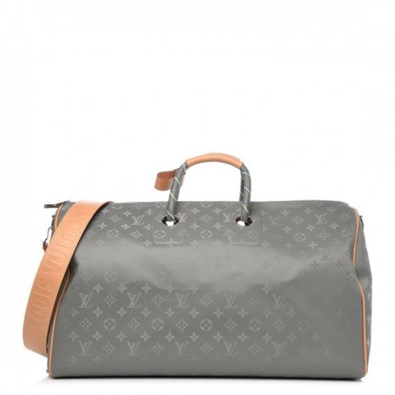 Mala Keepall Titanium 50 Bandouliere Louis Vuitton Premium Top Com Código Série Acompanha Alça E Dust Bag Envio Imediato