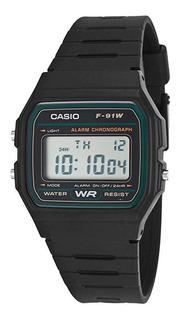Reloj Hombre Casio F-91w-3sdg Negro Retro / Lhua Store
