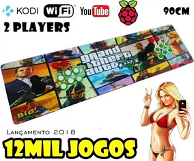 Kit Arcade Fliperema Portatil 12mil Jogos + Kodi + Recalbox