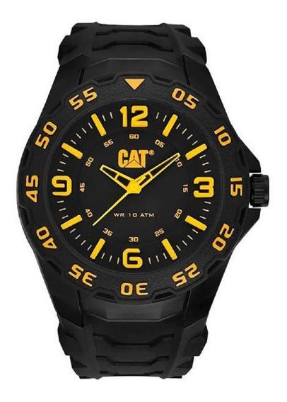 Relógio Masculino Caterpillar Lb11121137 Preto/amarelo C/nfe