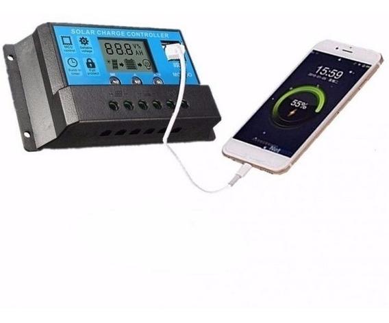2 Controlador Carga Painel Solar 20a 12v 24v Promoçao