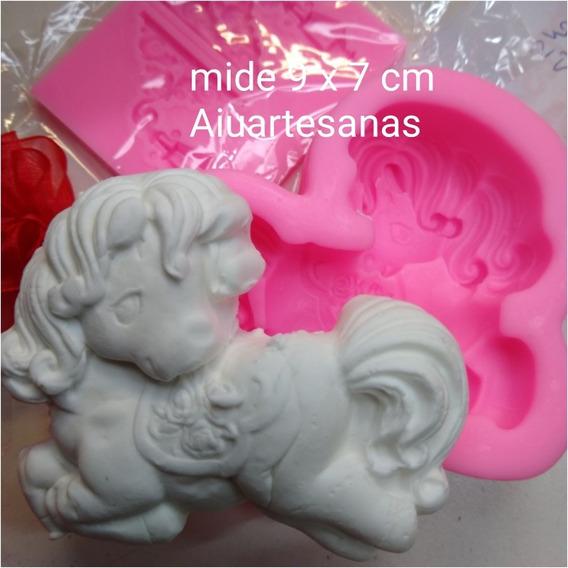 Molde De Silicona Unicornio Jabón Porcelana Fondant Souvenir