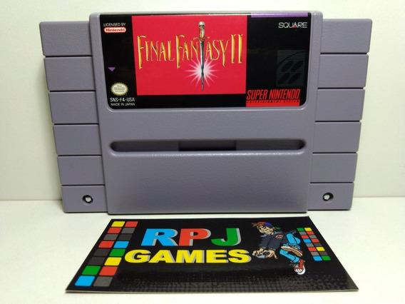 Final Fantasy 2 Original Salvando Super Nintendo Snes - &&