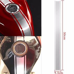 Adesivo Personalizado 2 Faixa Para Tanque De Motos +1 Nome