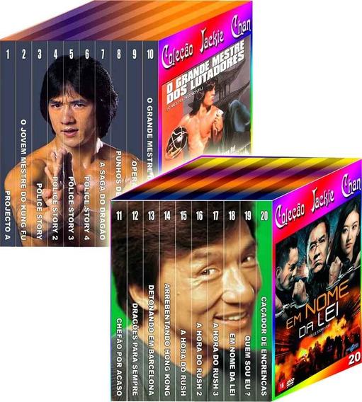 Coleção Jackie Chan Lotes 1 E 2 - 20 Dvds
