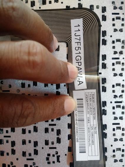 Teclado Para Notebook Positivo S1991 Modelo 11j78pa-f51gw