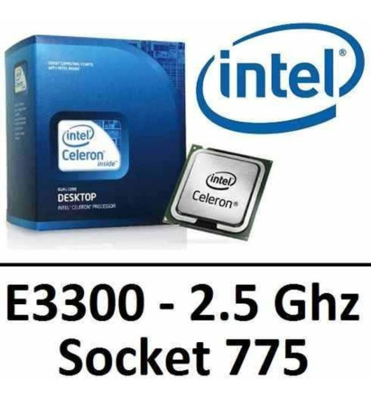 Processador Intel Celeron Dual Core E3300 Soket 775p