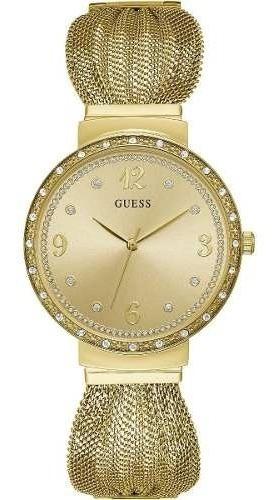Relógio Feminino Guess Dourado Chiffon W1083l2 Original