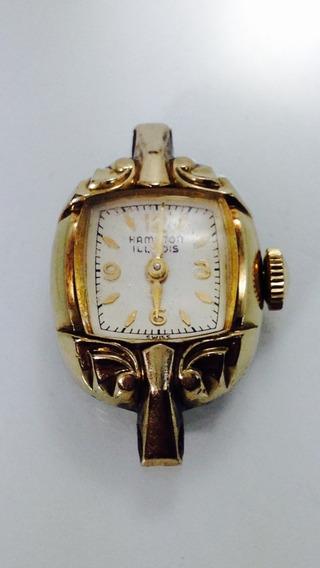 Reloj Marca Hamilton Illinois, Caja Dorada 10k (ref. 659)