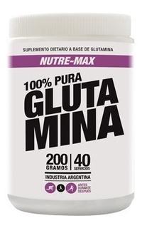 Glutamina 200grs Nutre-max Aminoacidos Masa Muscular