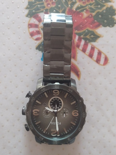 Reloj Fossil Color Negro Claro Original De Acero Inoxidable