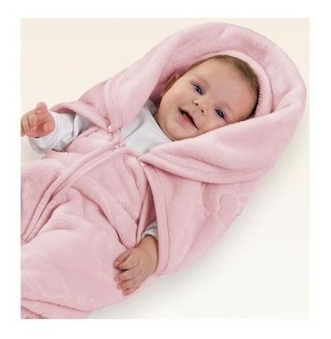 Baby Sac Saco De Dormir Para Bebê Microfibra Rosa Jolitex
