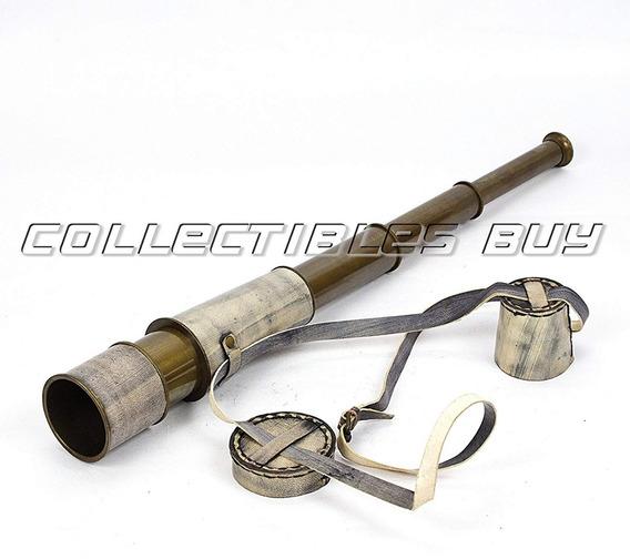 Arte y antigüedades 6 pulgadas de Marina telescopio Catalejo Pirata latón náutica con caja de madera
