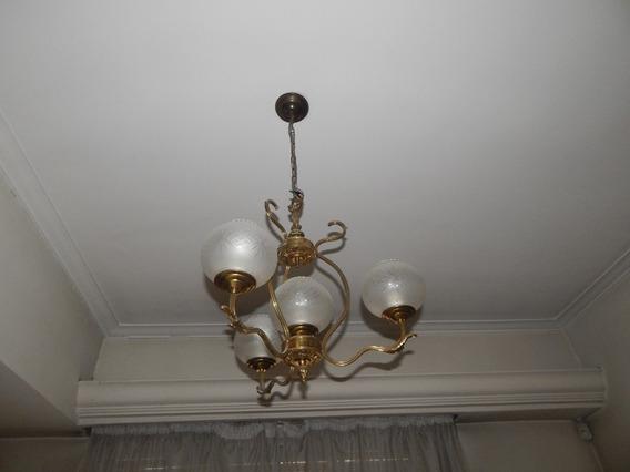 Iluminación Antigua Araña De Bronce