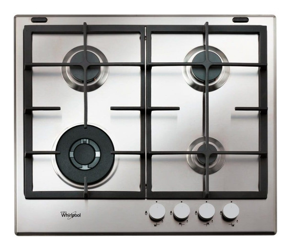 Anafe A Gas Whirlpool Empotrable 60 Cm Gma6422x