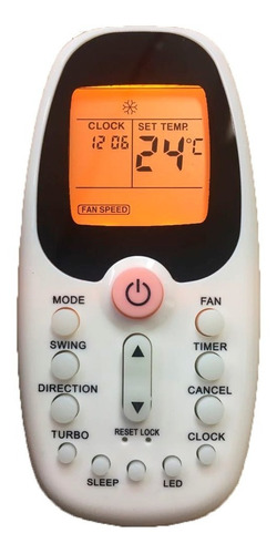 Controle Ar Condicionado R06/bgce Komeco Midea Comfee C/ Luz