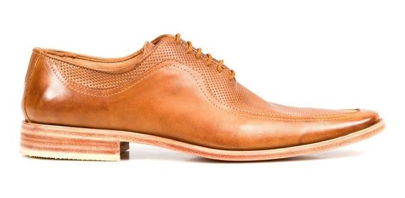 Tremendo Zapato De Hombre Sport Suela Cuero Picado En Punta