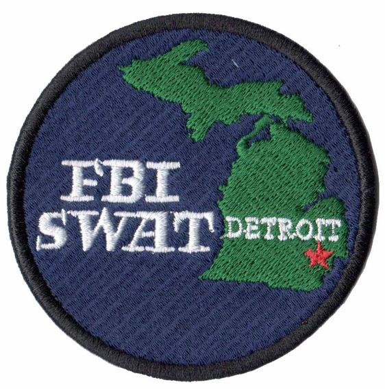 Patch Bordado - Fbi Swat Policia Federal Detroit Pl60169
