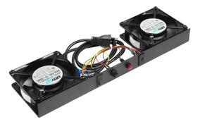 Cooler Ventilação Sistema Duplo 110v Pra Rack Gabinete 19