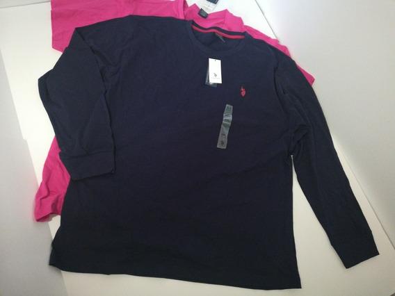Camisetas Polo Hombre Xxl Pkt De 2 Rosa Y Azul Marino.