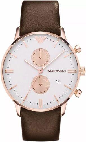 Relógio Xz1945 Emporio Armani Ar0398 Clássico Couro / Caixa