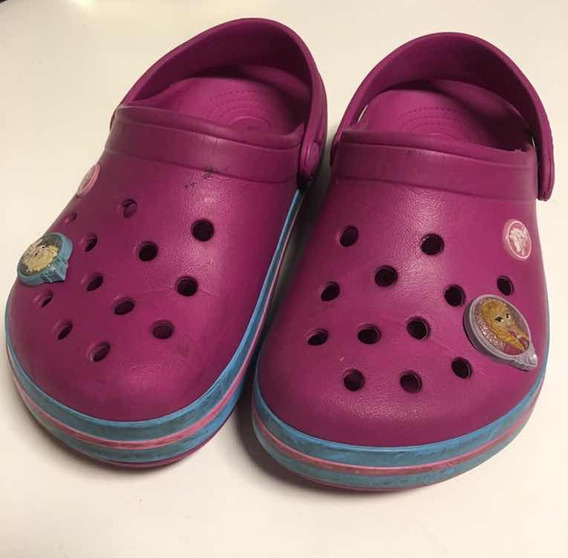 Crocs Con Pins De Frozen De Regalo Talle 33-34