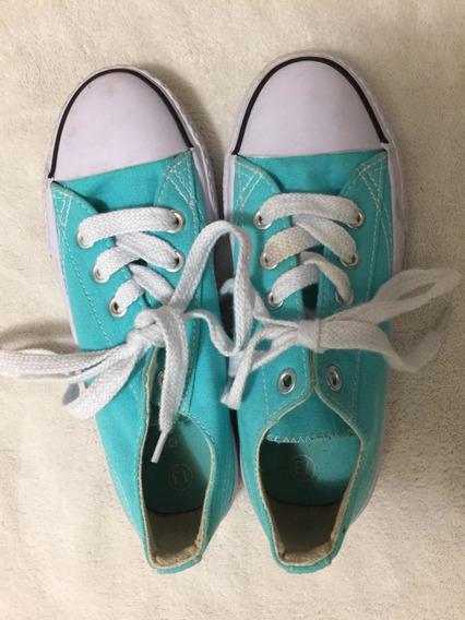 Zapatillas Importadas Nena Color Acqua Talle 13 Us