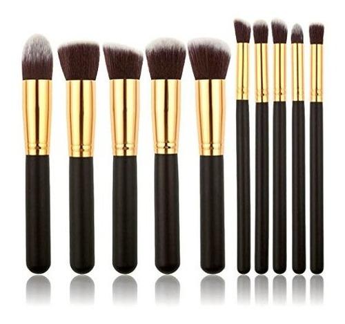 Imagen 1 de 2 de Xiaoyu 10 Unids Pinceles De Maquillaje Profesional Oval Cepi