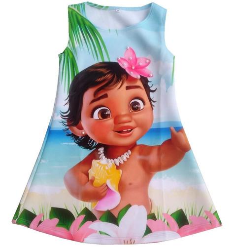 Imagen 1 de 5 de Vestido Para Niña Moana - Ig