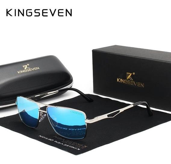 Lentes Kingseven, Polarizado Azul, Marco De Aluminio + Envío