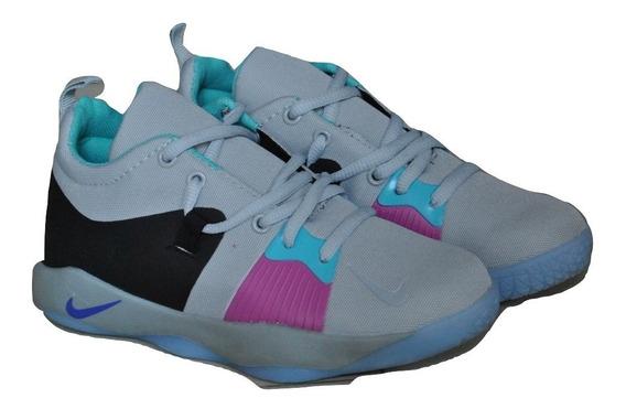 Kp3 Zapatos Niños Niñas Nike Paul George 2 Gris