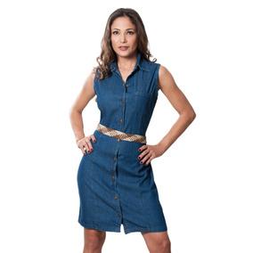 3747c99be7 Vestido Casual En Jeans Sin Manga Talla S   M   L   2xl