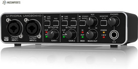 Interface De Áudio Behringer U-phoria Umc 204hd Umc204hd Usb