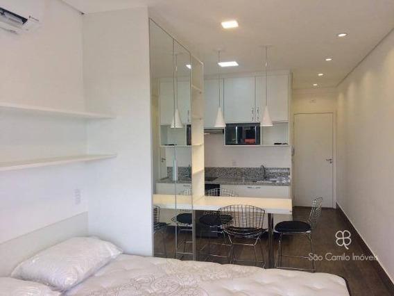 Flat Com 1 Dormitório Para Alugar, 26 M² Por R$ 1.900/mês - New Studio - Granja Viana - Cotia/sp - Fl0006