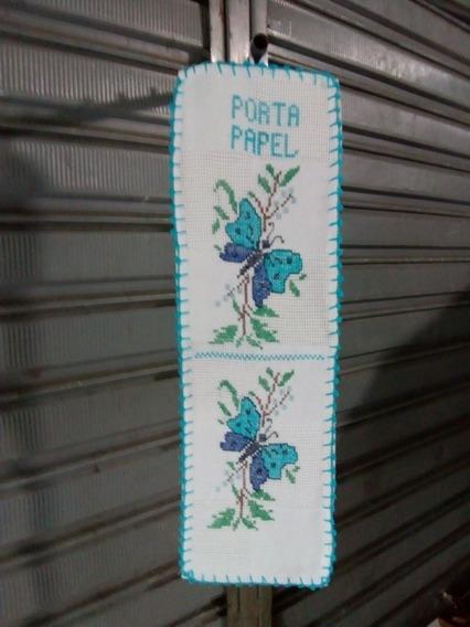 Kit Revenda Com 30 Porta Papel Bordado Com Ponto De Cruz