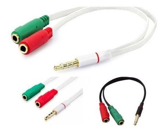 Cabo Adaptador P3 Para P2 Gamer Celular Microfone Headset